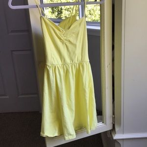 Yellow sundress with adjustable tie up back